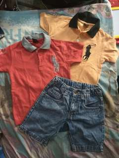 SET 2 POLO T-SHIRT FREE LITTLE M PANTS