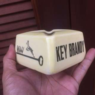 Key Brand Ashtray Antik