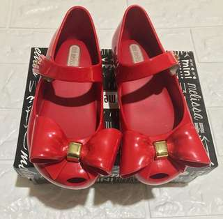 Mini Melissa Red Shoes Size 9