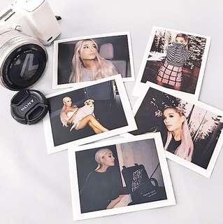 Ariana Grande Preorder polaroid photo prints cards