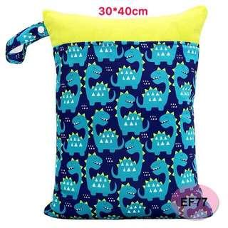 ✅ready stock- double zip wet bag/diaper bag/waterproof bag
