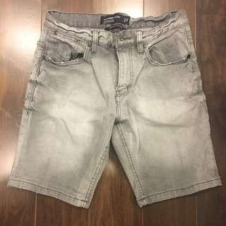 Cotton on denim Bermuda