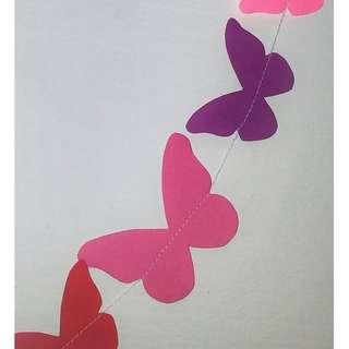 🚚 Butterflies garland