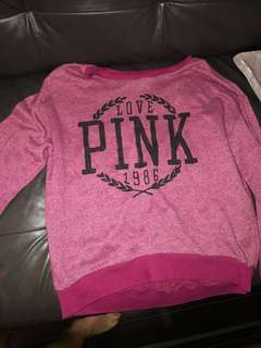 Pink Sweatshirt size xs but fits s or m