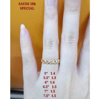 18K SPECIAL SAUDI GOLD RING ''.......