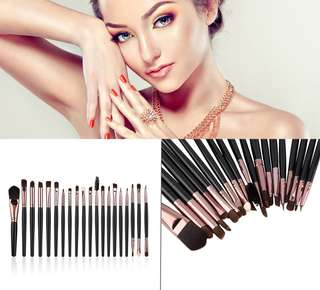 20 Pcs Eyebrow Lip Eyeshadow Fashion Complete Makeup Brush Set