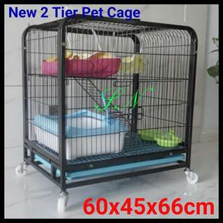 Great Thick Iron Metal Cage Suitable for Cat or Dog  Or Rabbit