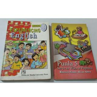 Set of 2 Textbooks/Skillbooks for English and Filipino (good practice books at home to improve reading comprehension) for P80.00