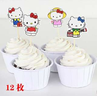 $4 for 12 pcs of hello kitty cup cake insert