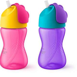 Avent Straw Cup 10oz - pink/ purple color
