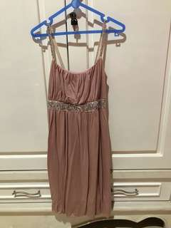 Sequined pink dress