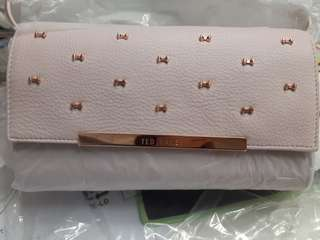 Ted Baker BOW DETAIL SOFT LEATHER CLUTCH