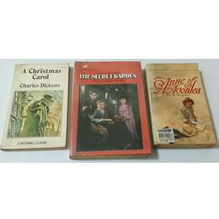 Set of 3 Classic Novels, all for P50.00