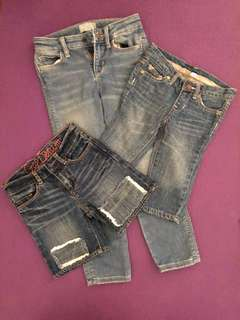 Branded girls' denim bottoms