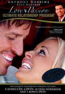 Tony robbins love & passion ultimate relationship program DvD & CD