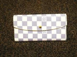 LV Damier Azur Three fold wallet