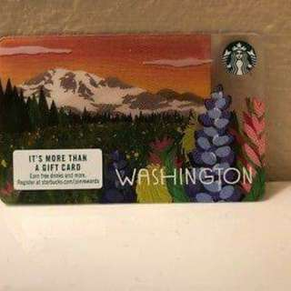2018 Washington State Starbucks Card