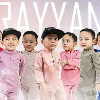 kurta rayyan baju raya melayu viral moden kanak budak lelaki