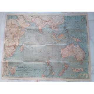 Vintage Pelan World War 2 Old Map