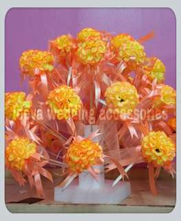 Bunga pahar mum bush orange yellow