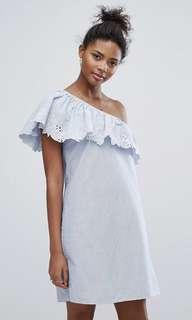 New Look Crochet One Shoulder Dress