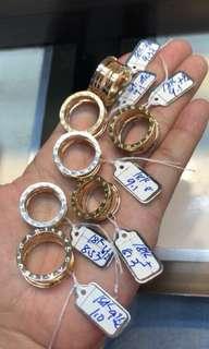 Bvlgari Ring's 18k Saudi Gold