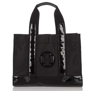 99% NEW 新Tory Burch nylon black tote bag