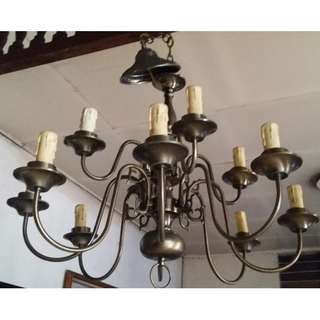 REPRICED 12-bulb Antique Vintage REPRO Chandelier