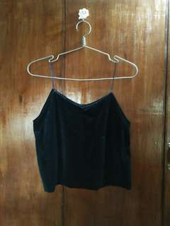 Velvet Crop top and Off shoulder