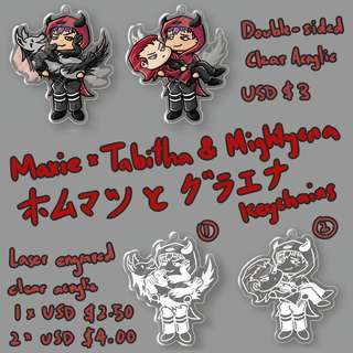 Maxie/Tabitha & Mightyena charms