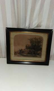 REMBRANDT  Antique  Etching Print