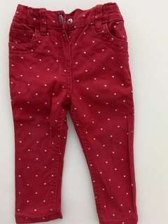 Red Jeans with Hearts