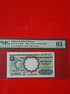 Malaya $1 1959 $1 waterloo.print.in PMG 65 EPQ