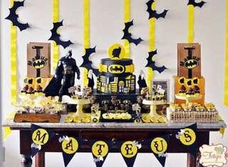 Batman Lego superhero Birthday / dessert table / 21st birthday
