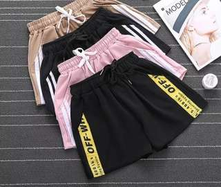 Off White Stripes Casual Sport Shorts