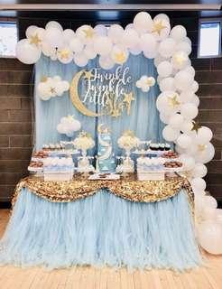 Cinderella Princess candy buffet / dessert table / wedding photobook table