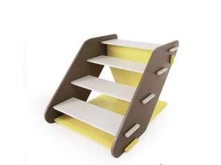 IBIYAYA依比呀呀 FF1313 四階寵物樓梯-黃 (送防滑貼)