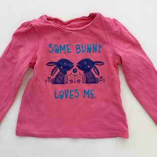 MOTHERCARE Long sleeve Bunny Top