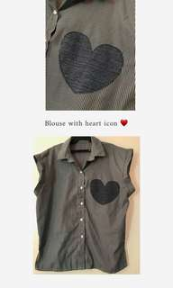 Blouse with ♥️ Icon