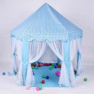 Indoor/Outdoor Blue Pentagon Tent