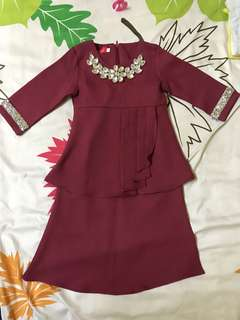 (Reduced) Kurung Raya color Maroon