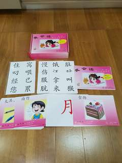 Chinese flash card 我会读 big flash cards level 1 age 1 to 4+