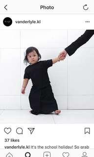 Vanderlyle Kurung in Black (3-4yo)