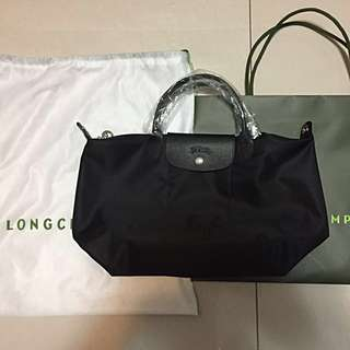 LONG CHAMP LE PLIAGE NÉO TOP-HANDLE S BLACK