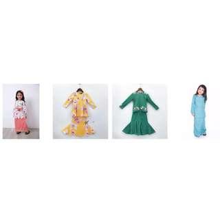 Baju Kurung Comel Buat Si kecil Comel Harga Mengejutkan Utk Semua Peringkat Umur