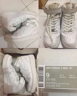 Nike Air Force ORIGINAL 01 Mid 07 kondisi mulus 95% full dus box