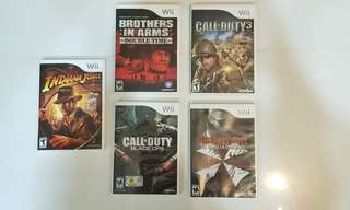 Wii Games Collection - Call of Duty/ Resident Evil/ Brother in Arms/ Indiana Jones