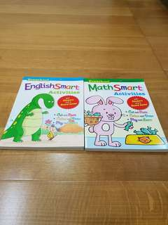 Good condition preschool English math smart activities book