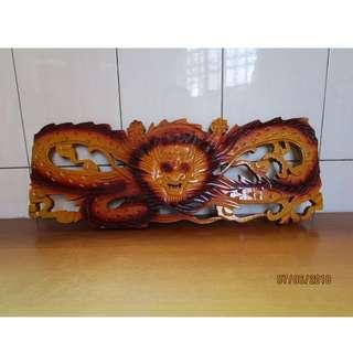 獅王 木製擺飾