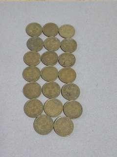 1965年 20只5仙港幣,包真品